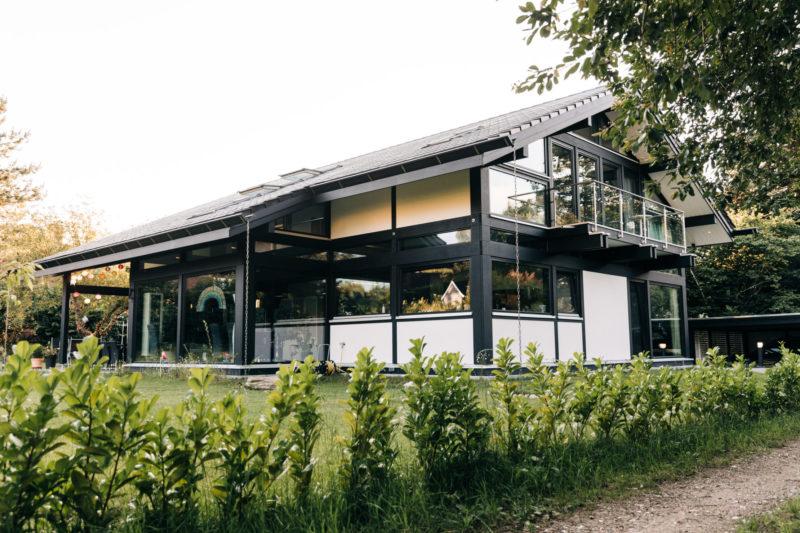 Modernes Fachwerk Haus Landhaus Holz Konstruktion Holzstaenderhaus Holzskelett Fachwerkhaus Concentus 18