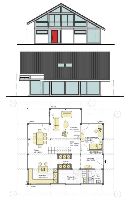 musterhaus ch195 concentus moderne fachwerkh user. Black Bedroom Furniture Sets. Home Design Ideas