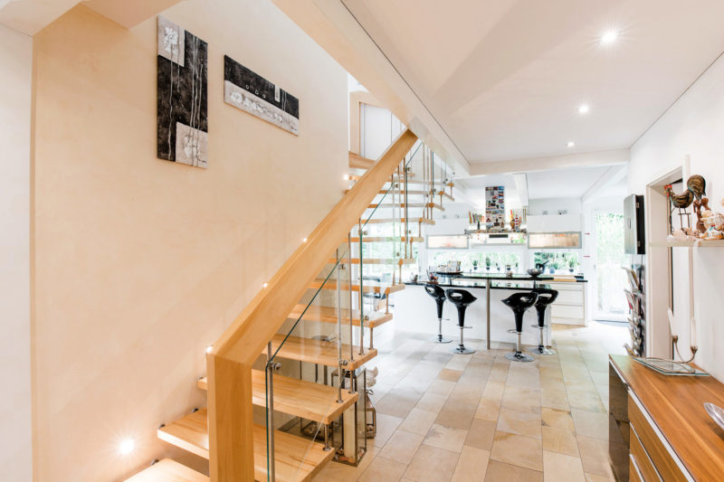 Treppe Holz Fachwerkhaus Concentus