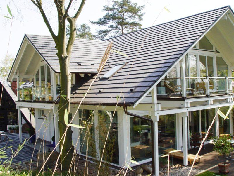 Architektenhaus Fachwerkhaus Holz Skelett Konstruktion 2