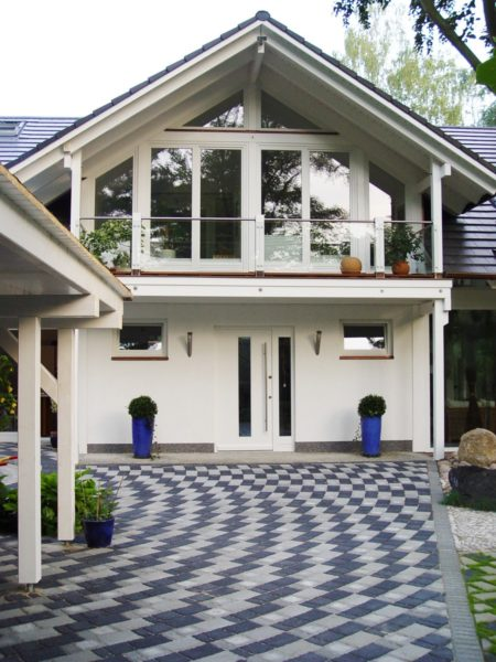 Architektenhaus Fachwerkhaus Holz Skelett Konstruktion 3