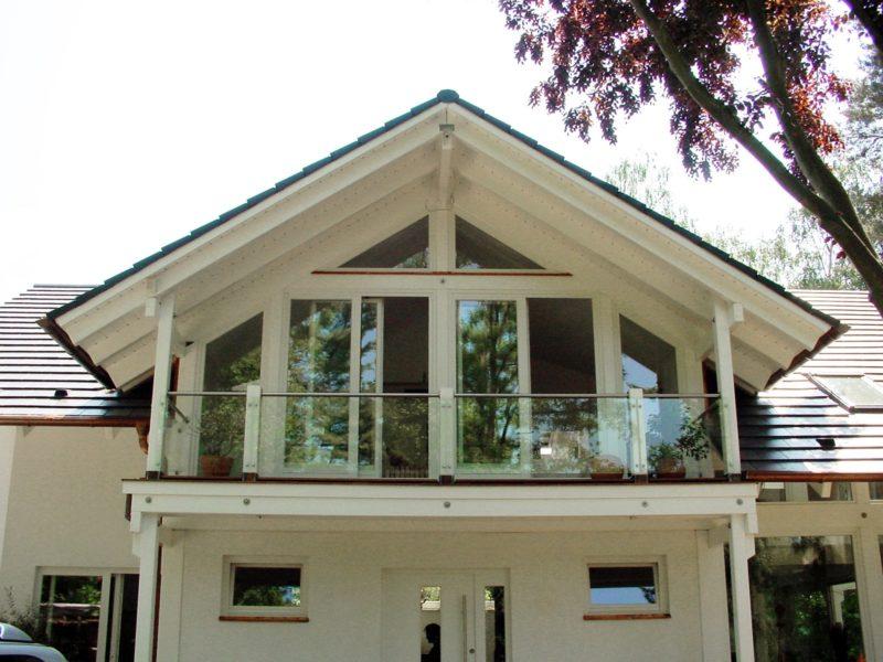 Architektenhaus Fachwerkhaus Holz Skelett Konstruktion 5