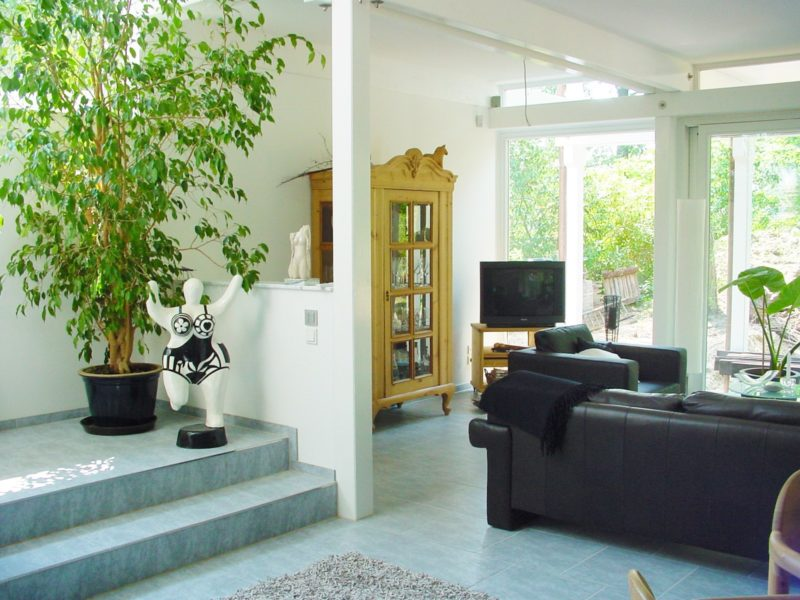 Architektenhaus Fachwerkhaus Holz Skelett Konstruktion 9