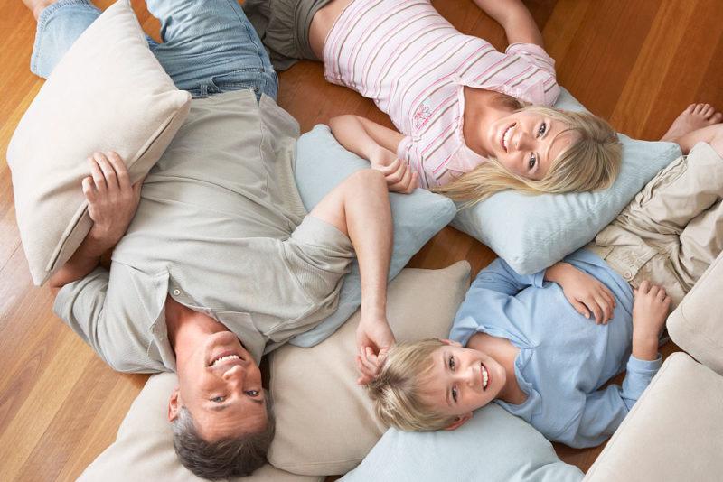 Bauprozesse Zufriedenheit Familie