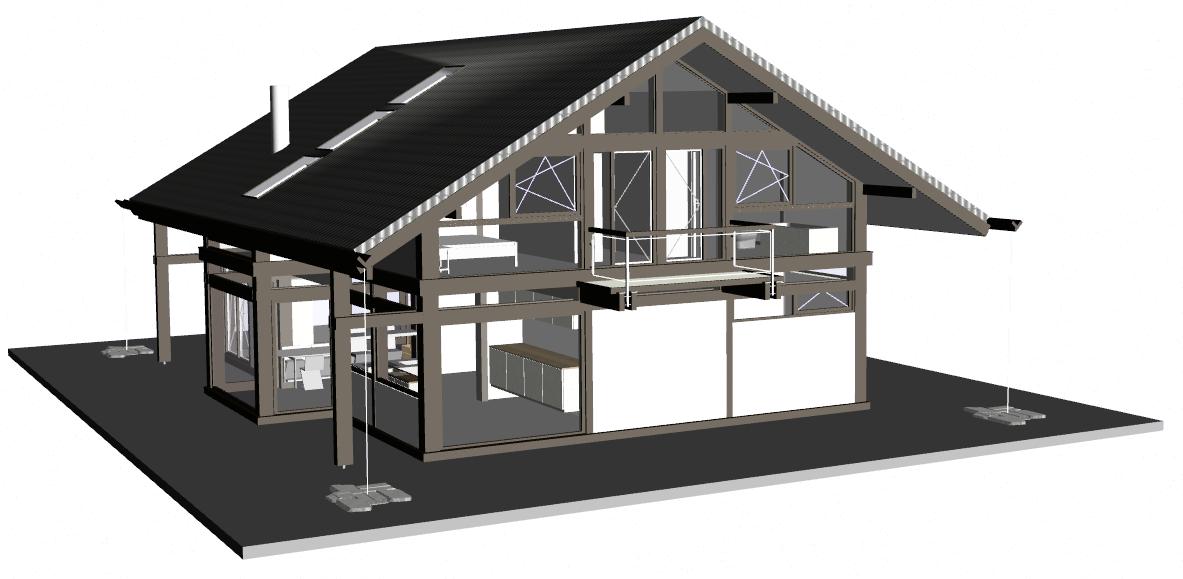 architektur innenausbau modernes fachwerkhaus landhaus concentus modernes fachwerkhaus. Black Bedroom Furniture Sets. Home Design Ideas