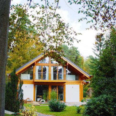 Concentus Fachwerk Holzskelett Haus Hell Braun