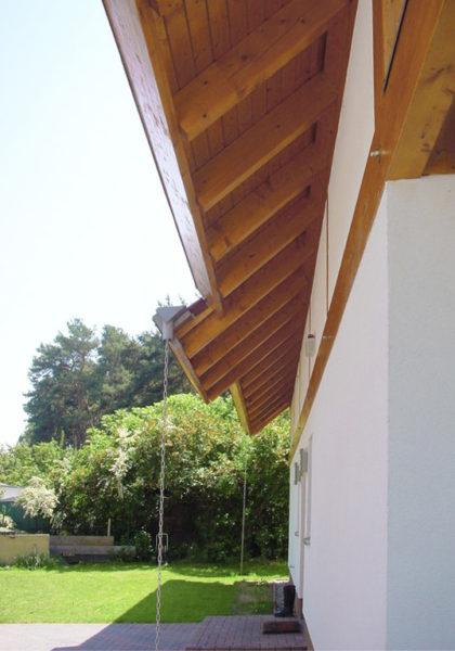 Concentus Fachwerk Holzskeletthaus Organge Braun