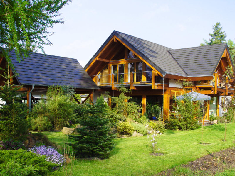 Concentus Fachwerkhaus Holzskeletthaus Braun