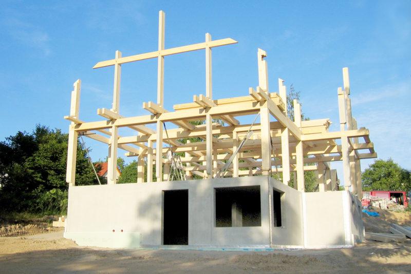 Concentus Holzkonstruktion Skelett Aussenwaenge