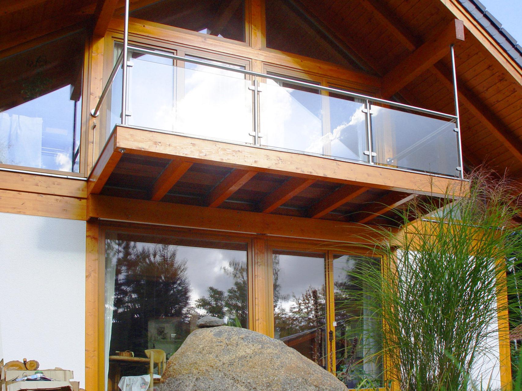 Concentus Modernes Fachwerk Holzskelettbau Hell Braun