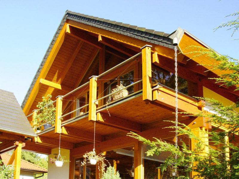 Concentus Modernes Fachwerkhaus Holzskelett Haus Braun