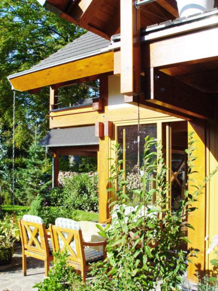 Concentus Modernes Fachwerkhaus Holzskelettbau Braun