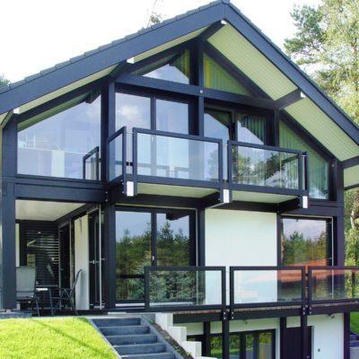 Fachwerkhaus Dunkle Konstruktion Holz Skelett Haus Landhaus 18