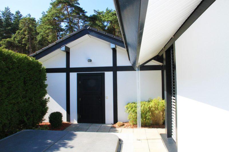 Fachwerkhaus Dunkle Konstruktion Holz Skelett Haus Landhaus 2