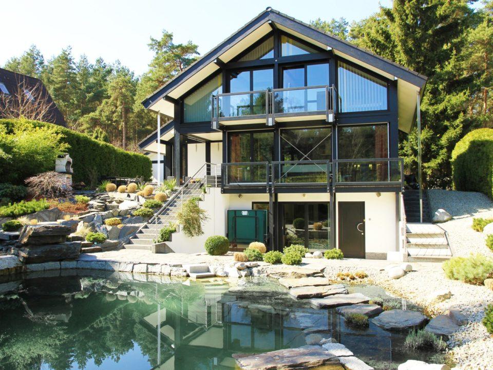 Fachwerkhaus Dunkle Konstruktion Holz Skelett Haus Landhaus 6