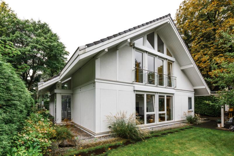 Hell Weiss Fachwerkhaus Landhaus Holzhaus