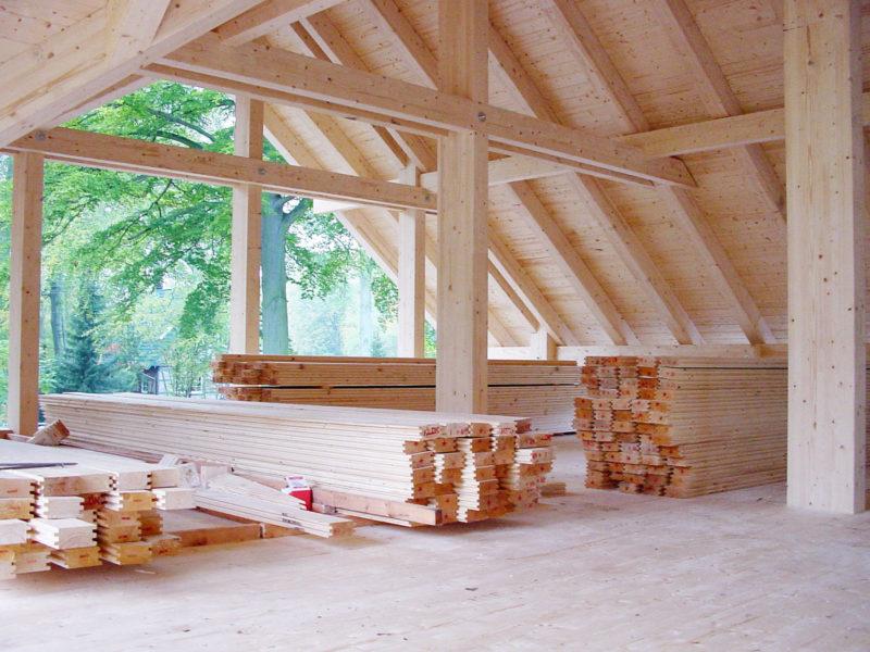 Holzskelettbau Holz Skelett Haus Concentus Fachwerkhaus