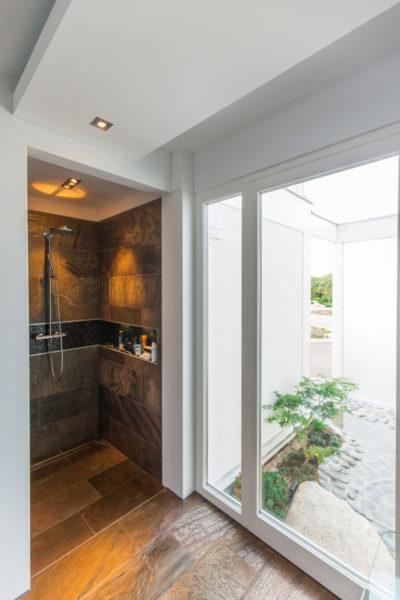 Innenausbau Dusche Fachwerkhaus
