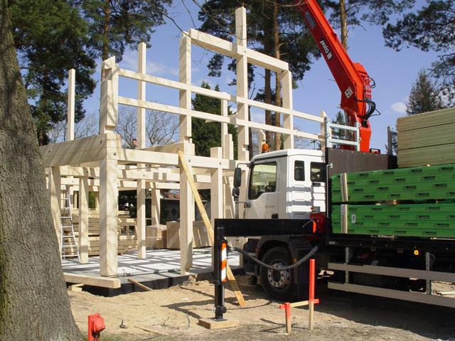 Lieferung Montage Holzskelettkonstruktion