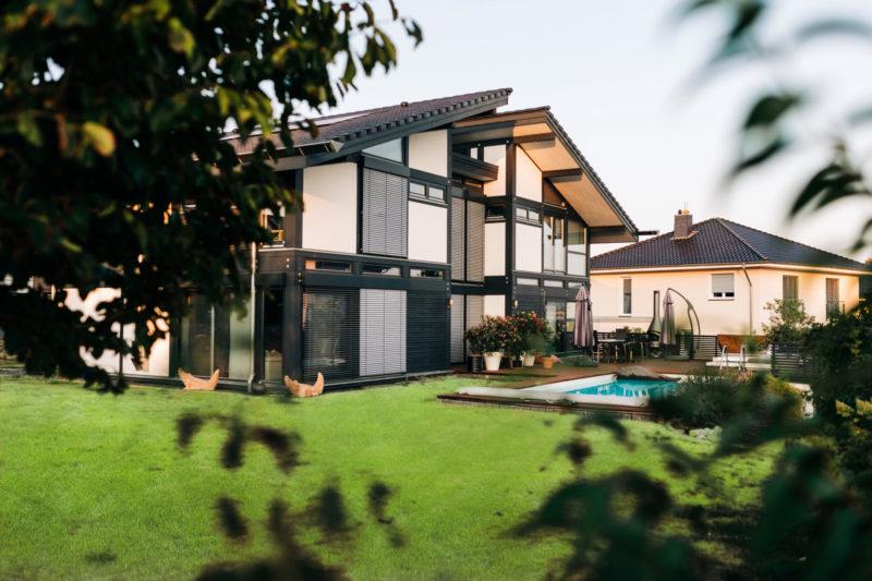 Modernes Fachwerk Haus Bauen Holzskelett Architektur Concentus
