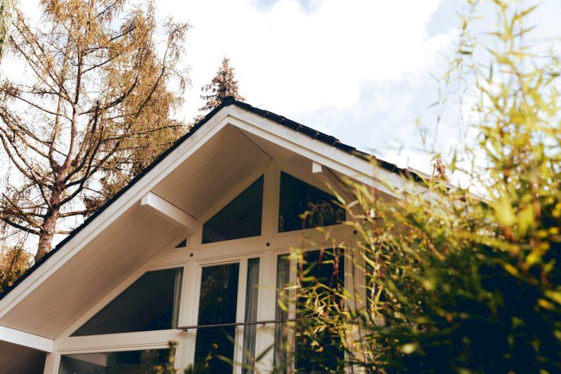 Modernes Fachwerk Haus Holz Glas Hell Holzstaenderhaus Holzskeletthaus Modern 11