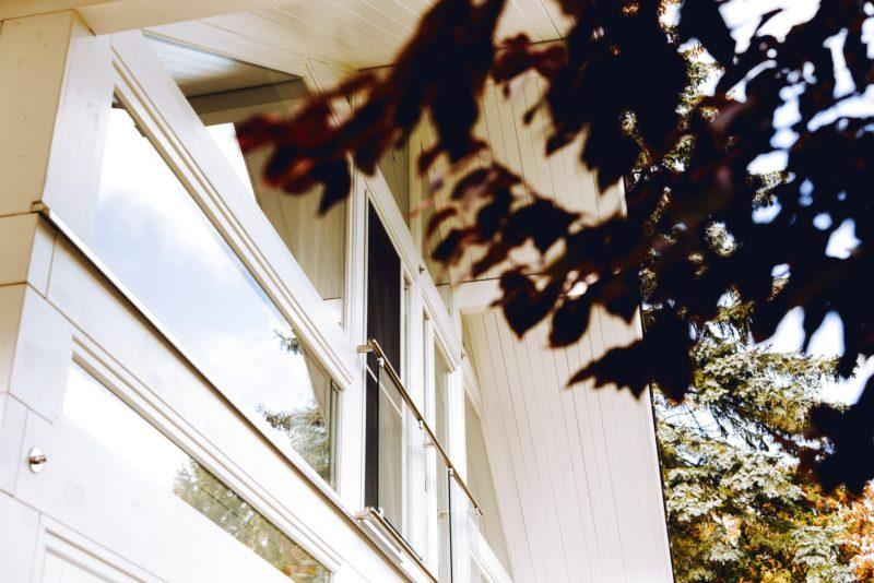 Modernes Fachwerk Haus Holz Glas Hell Holzstaenderhaus Holzskeletthaus Modern 14