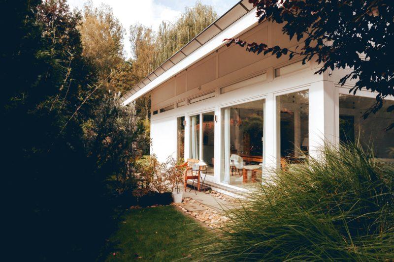 Modernes Fachwerk Haus Holz Glas Hell Holzstaenderhaus Holzskeletthaus Modern 15