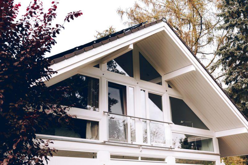 Modernes Fachwerk Haus Holz Glas Hell Holzstaenderhaus Holzskeletthaus Modern 17
