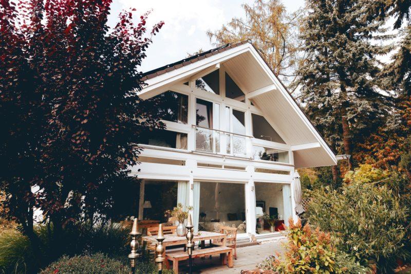 Modernes Fachwerk Haus Holz Glas Hell Holzstaenderhaus Holzskeletthaus Modern 18