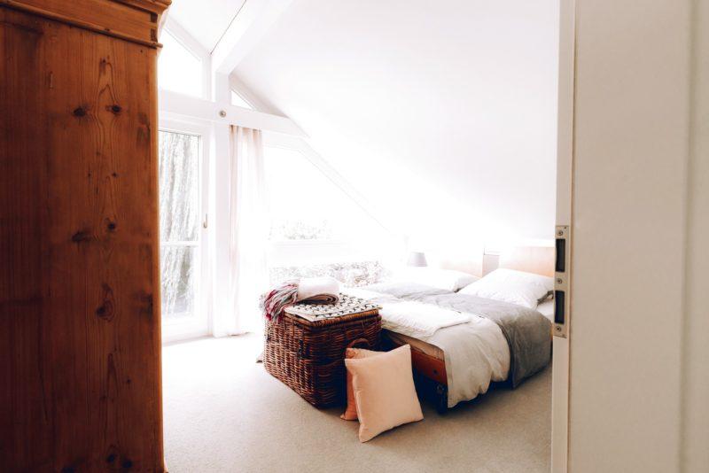Modernes Fachwerk Haus Holz Glas Hell Holzstaenderhaus Holzskeletthaus Modern 46
