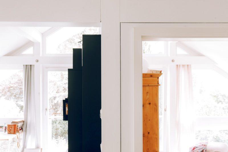 Modernes Fachwerk Haus Holz Glas Hell Holzstaenderhaus Holzskeletthaus Modern 47