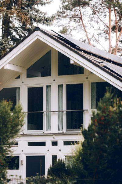 Modernes Fachwerk Haus Holz Glas Hell Holzstaenderhaus Holzskeletthaus Modern 6