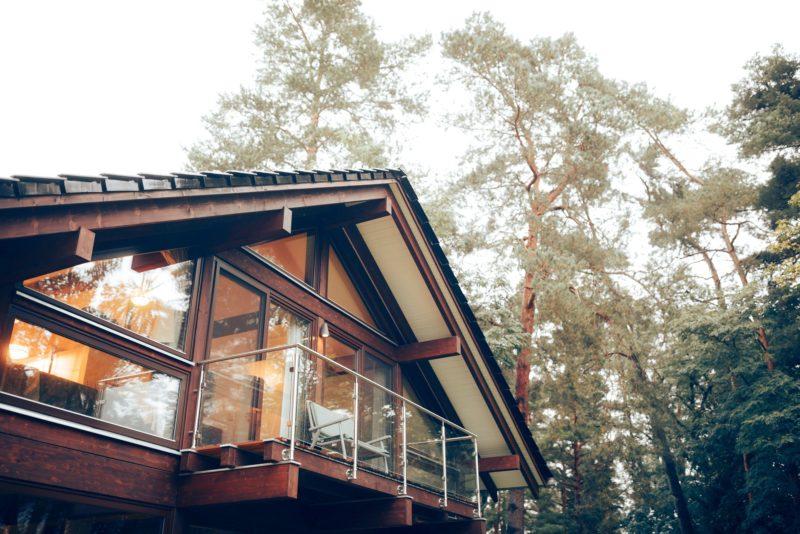 Modernes Fachwerk Haus Landhaus Braune Konstruktion Holzstaenderhaus Holzskelett 14