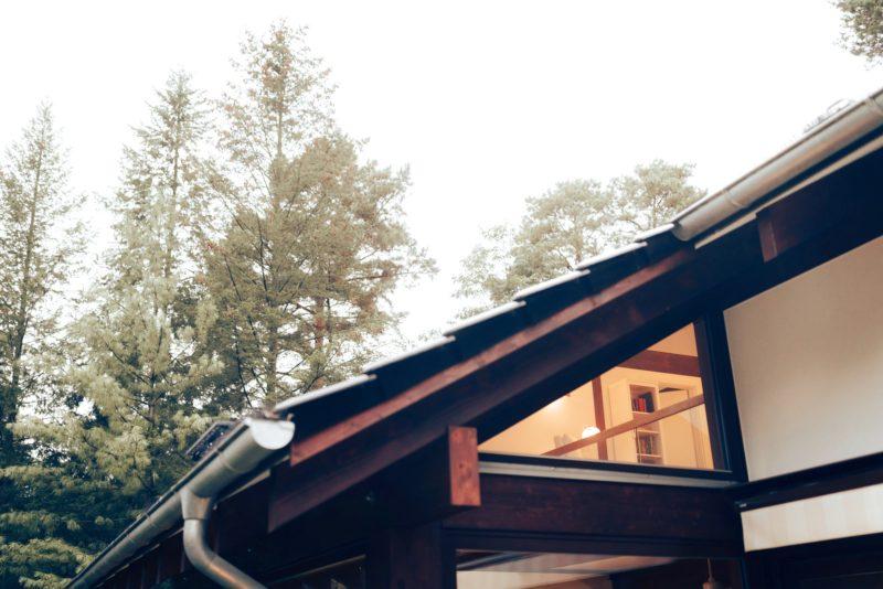 Modernes Fachwerk Haus Landhaus Braune Konstruktion Holzstaenderhaus Holzskelett 15