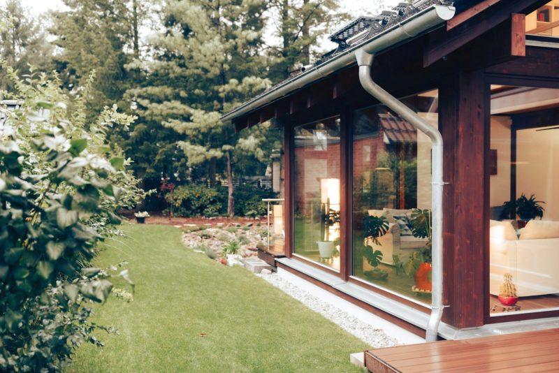 Modernes Fachwerk Haus Landhaus Braune Konstruktion Holzstaenderhaus Holzskelett 16