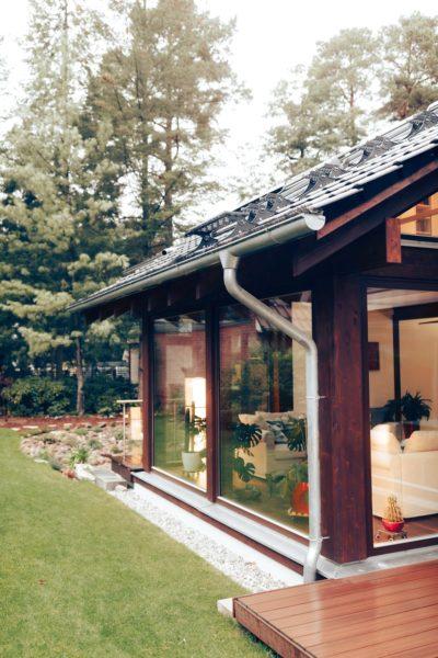 Modernes Fachwerk Haus Landhaus Braune Konstruktion Holzstaenderhaus Holzskelett 17