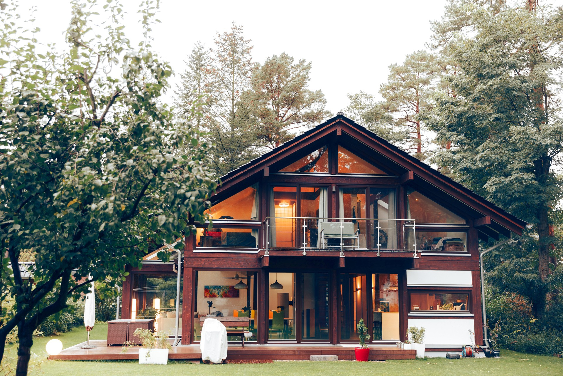 Modernes Fachwerk Haus Landhaus Braune Konstruktion Holzstaenderhaus Holzskelett 21