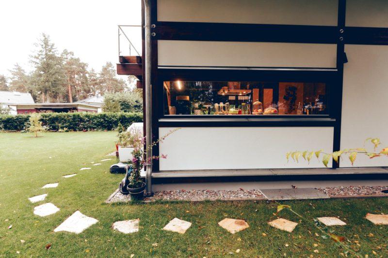 Modernes Fachwerk Haus Landhaus Braune Konstruktion Holzstaenderhaus Holzskelett 23