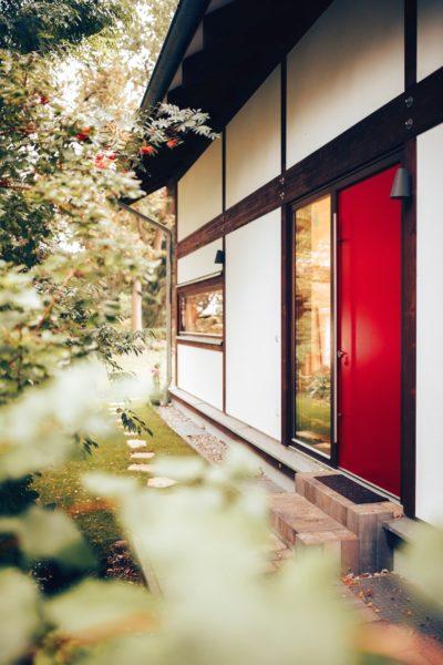 Modernes Fachwerk Haus Landhaus Braune Konstruktion Holzstaenderhaus Holzskelett 24