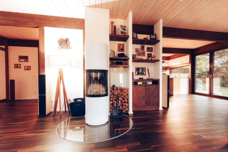 Modernes Fachwerk Haus Landhaus Braune Konstruktion Holzstaenderhaus Holzskelett 27