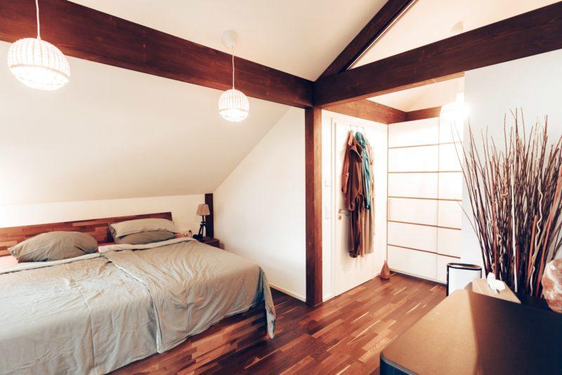 Modernes Fachwerk Haus Landhaus Braune Konstruktion Holzstaenderhaus Holzskelett 31