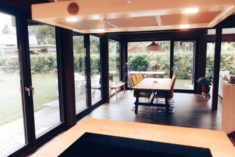 Modernes Fachwerk Haus Landhaus Braune Konstruktion Holzstaenderhaus Holzskelett 39