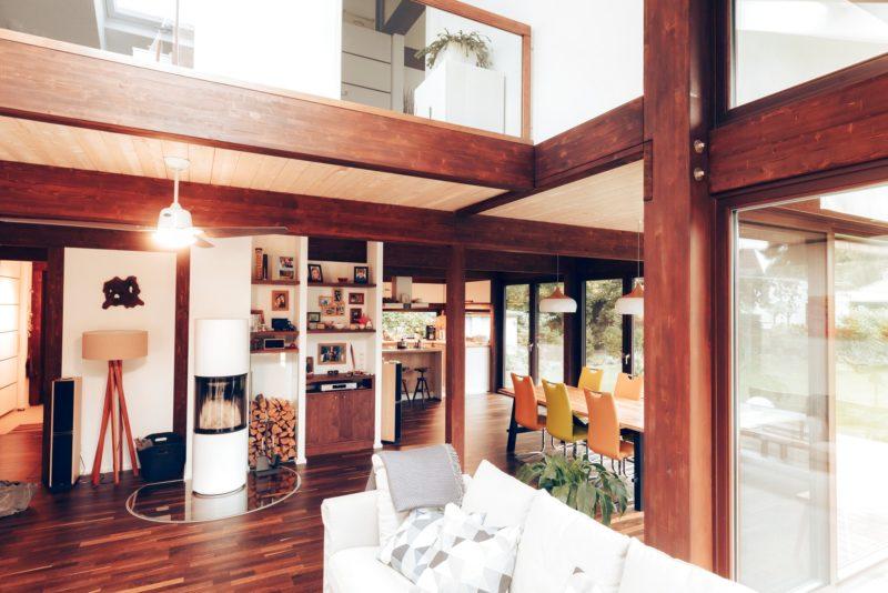 Modernes Fachwerk Haus Landhaus Braune Konstruktion Holzstaenderhaus Holzskelett 44