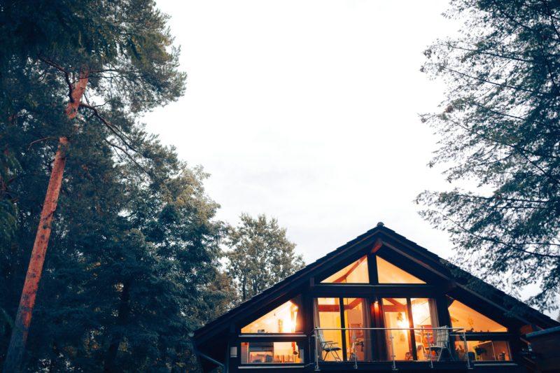 Modernes Fachwerk Haus Landhaus Braune Konstruktion Holzstaenderhaus Holzskelett 6