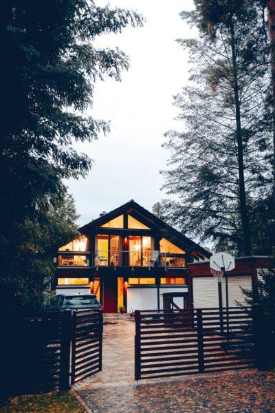 Modernes Fachwerk Haus Landhaus Braune Konstruktion Holzstaenderhaus Holzskelett 8