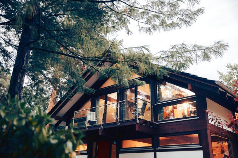 Modernes Fachwerk Haus Landhaus Braune Konstruktion Holzstaenderhaus Holzskelett 9