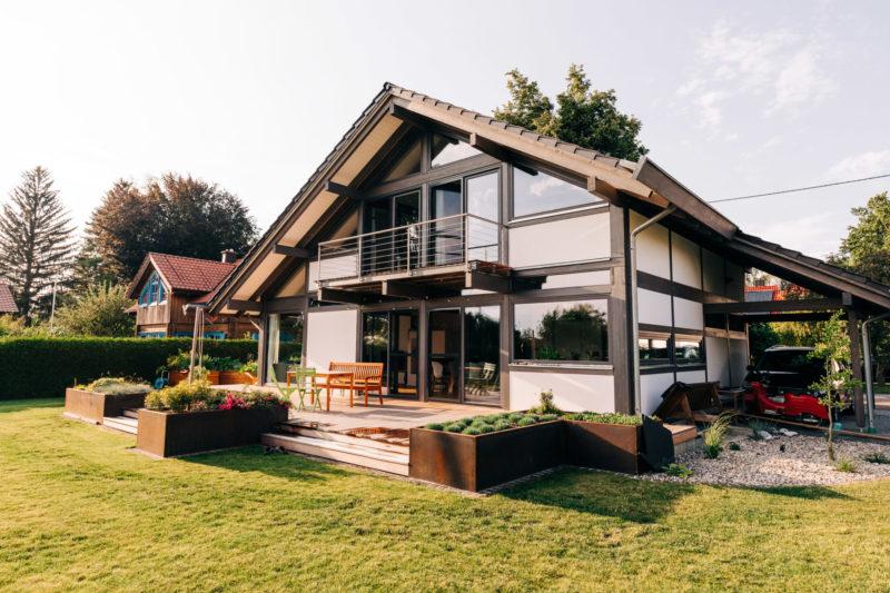 Modernes Fachwerk Landhaus Holzhaus Holzskelett Architektur Concentus