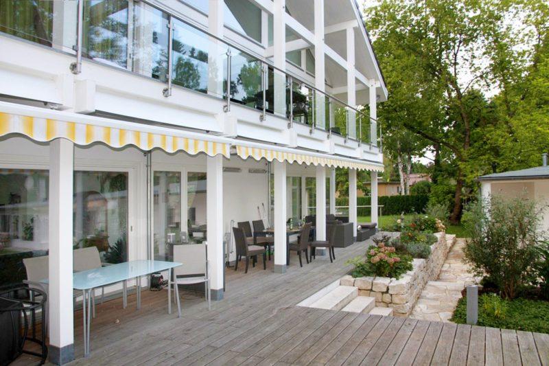 Modernes Fachwerkhaus Architektenhaus Hell Holz Skelett Konstruktion 1
