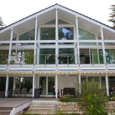 Modernes Fachwerkhaus Architektenhaus Hell Holz Skelett Konstruktion 2