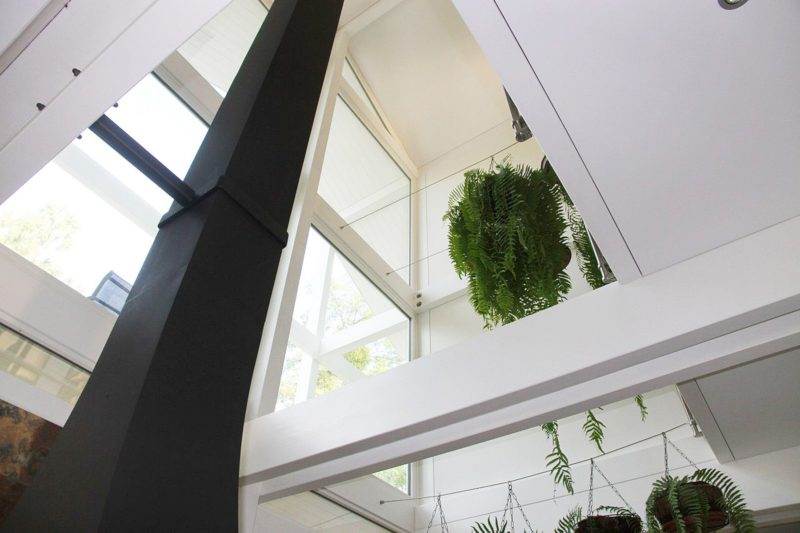 Modernes Fachwerkhaus Architektenhaus Hell Holz Skelett Konstruktion 9
